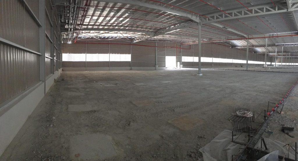 ScanFibre Steel Fibre Reionforced Concrete Slab Design 1 at WAREHOUSE AT JOHOR, MALAYSIA